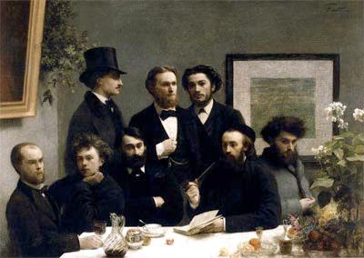 Un rincón de la mesa, de Henri Fantin-Latour